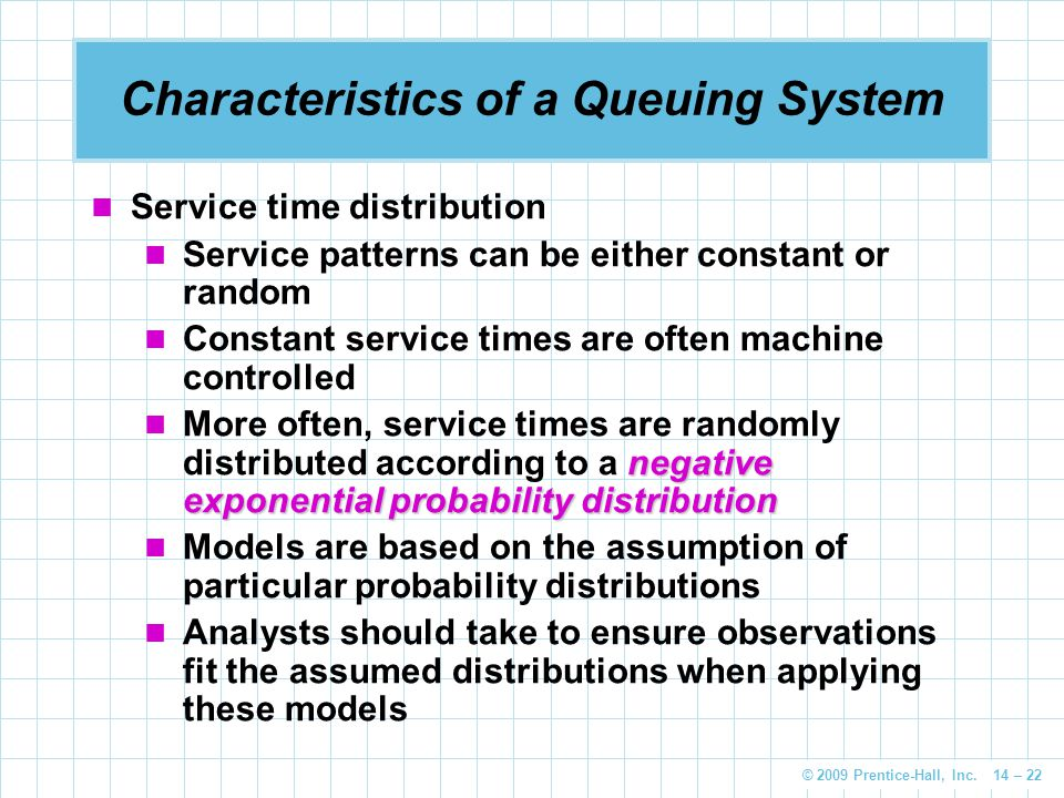 Characteristics of a Queuing System
