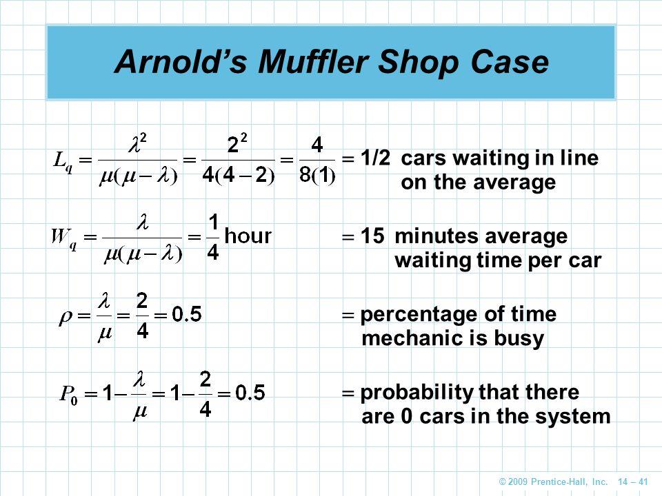 Arnold's Muffler Shop Case