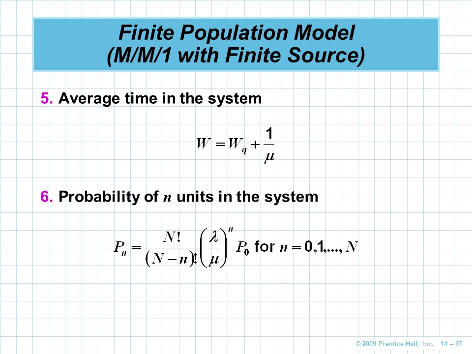 Finite Population Model (M/M/1 with Finite Source)