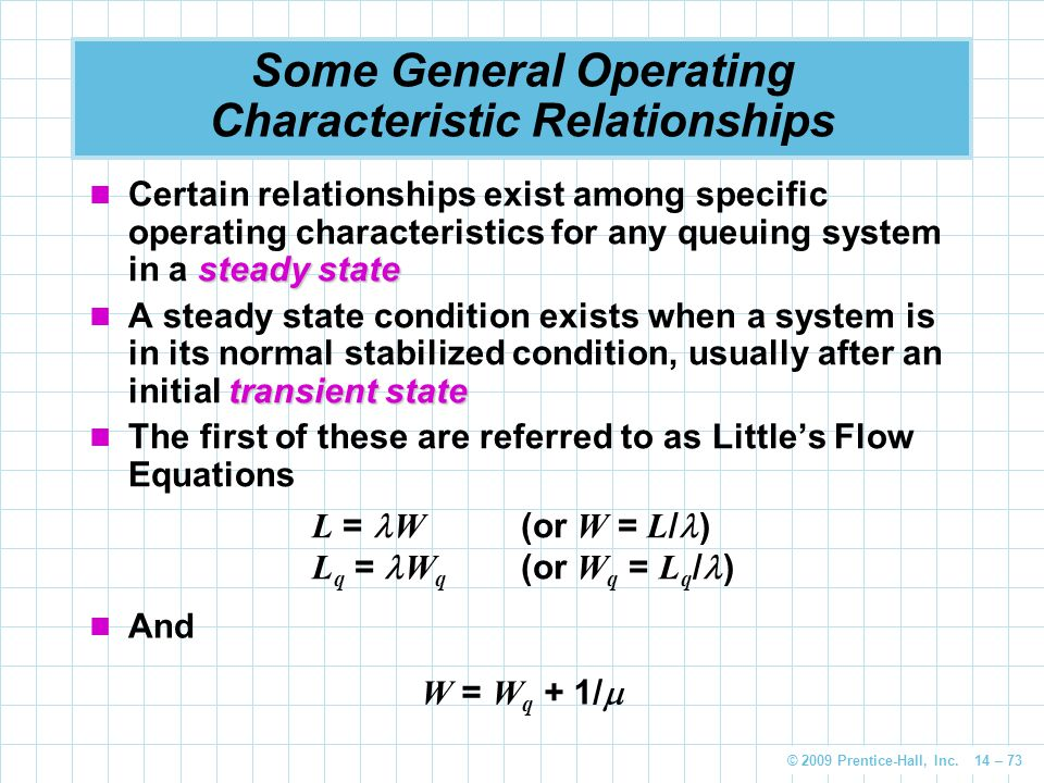 Some General Operating Characteristic Relationships