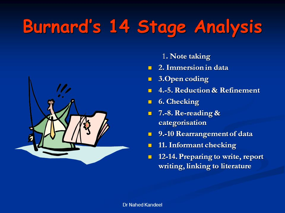 Burnard's 14 Stage Analysis