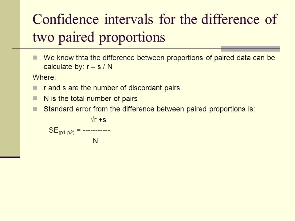 Confidence intervals for the difference of two paired proportions