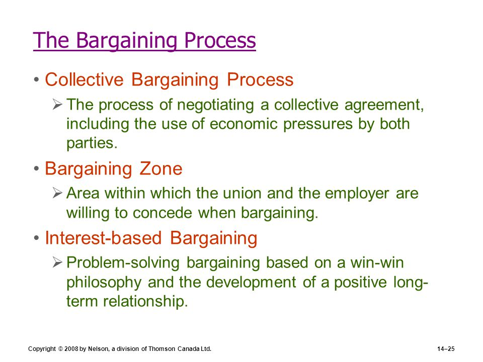 The Bargaining Process