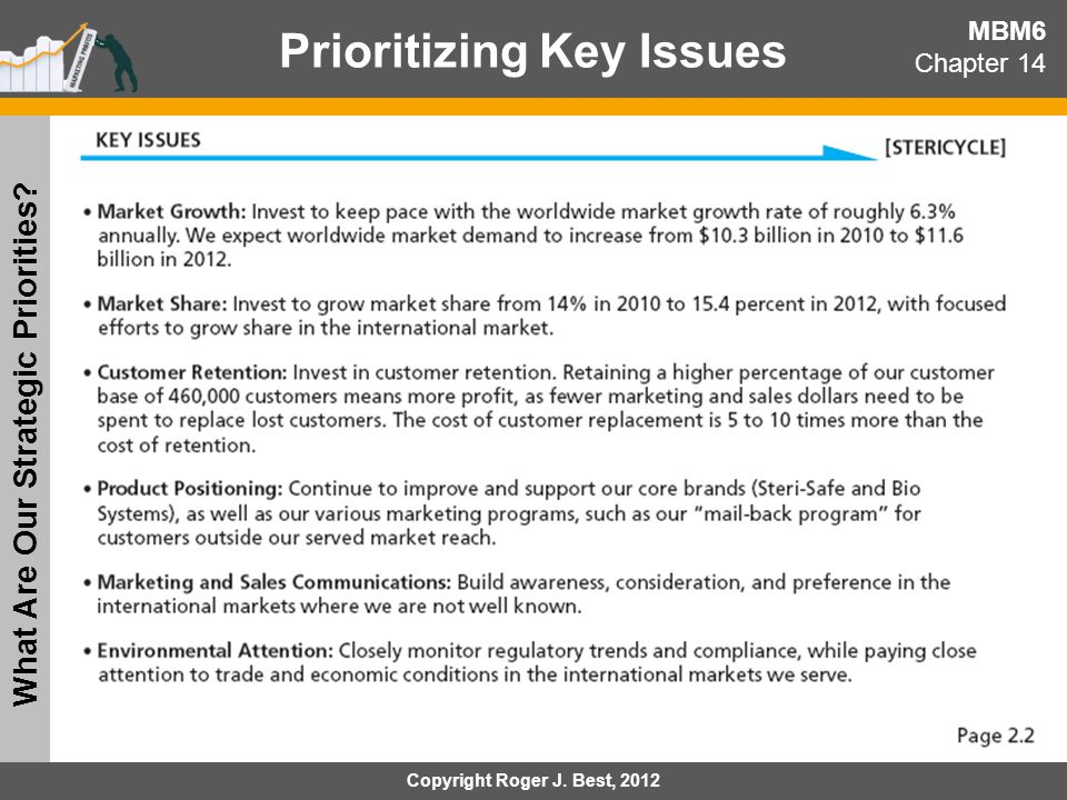 Prioritizing Key Issues What Are Our Strategic Priorities