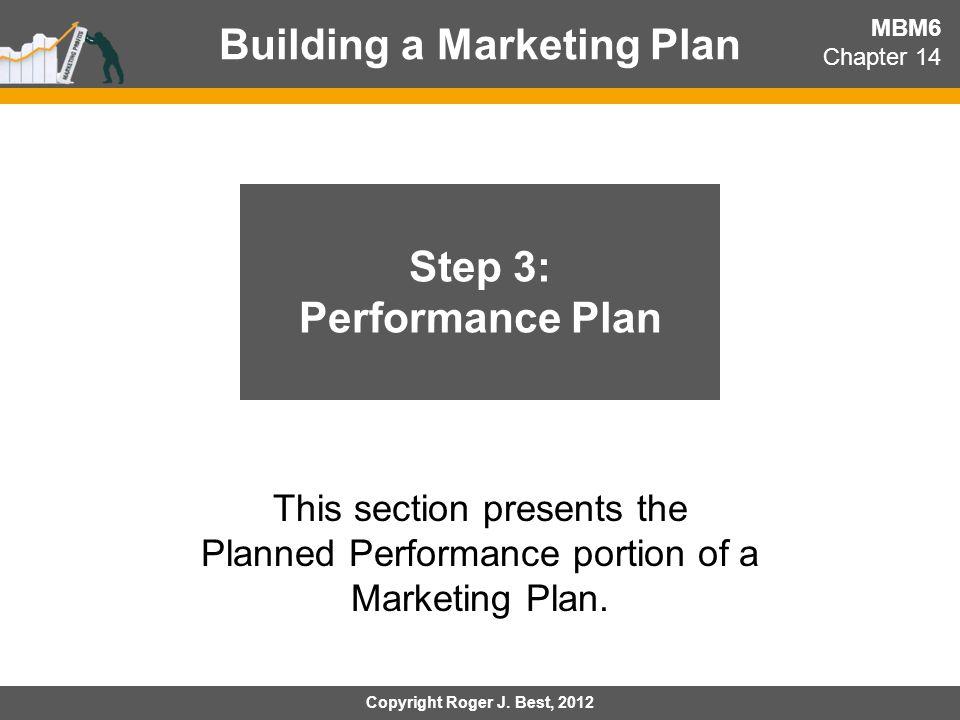 Building a Marketing Plan Step 3: Performance Plan