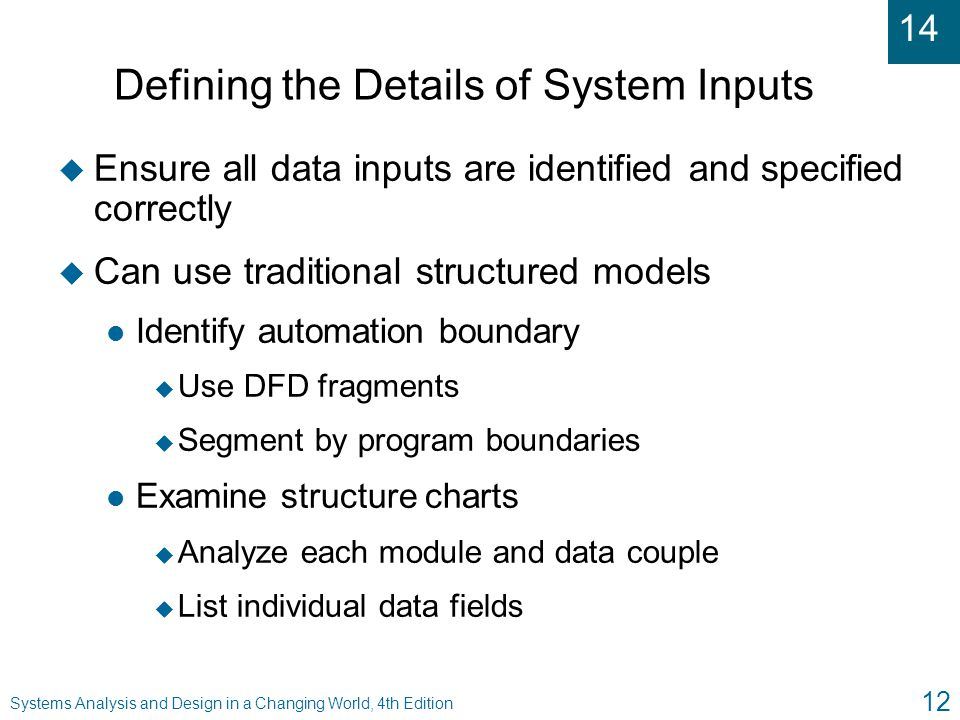 Defining the Details of System Inputs