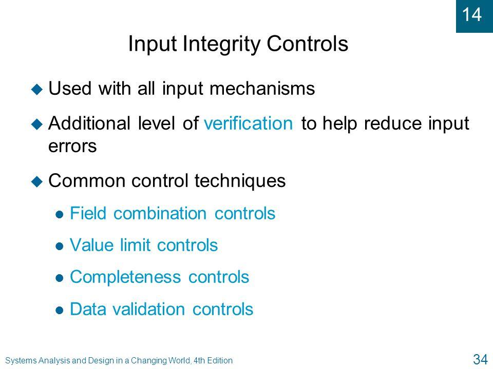 Input Integrity Controls