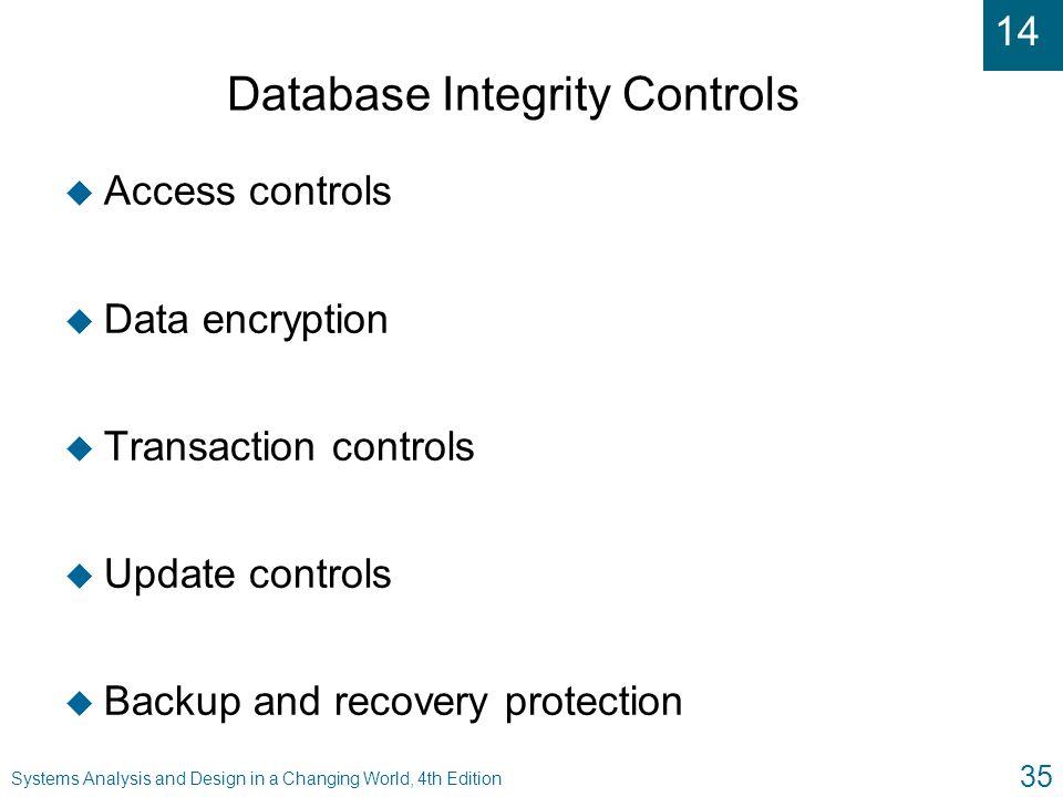 Database Integrity Controls