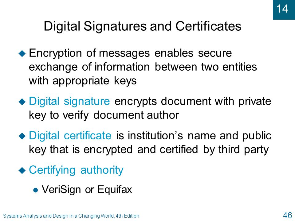 Digital Signatures and Certificates