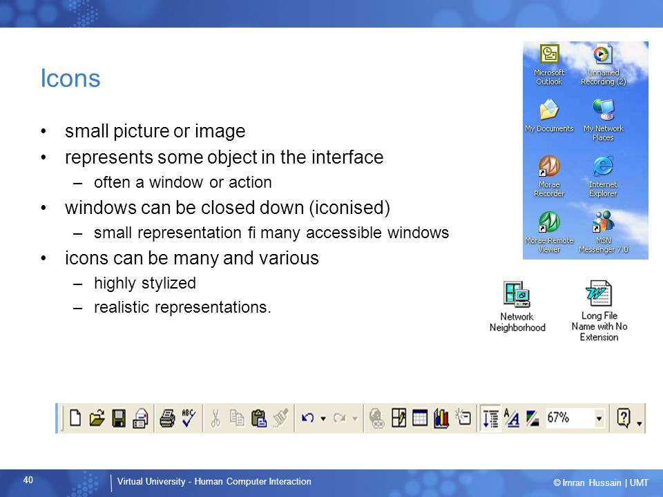 Icons small picture or image represents some object in the interface