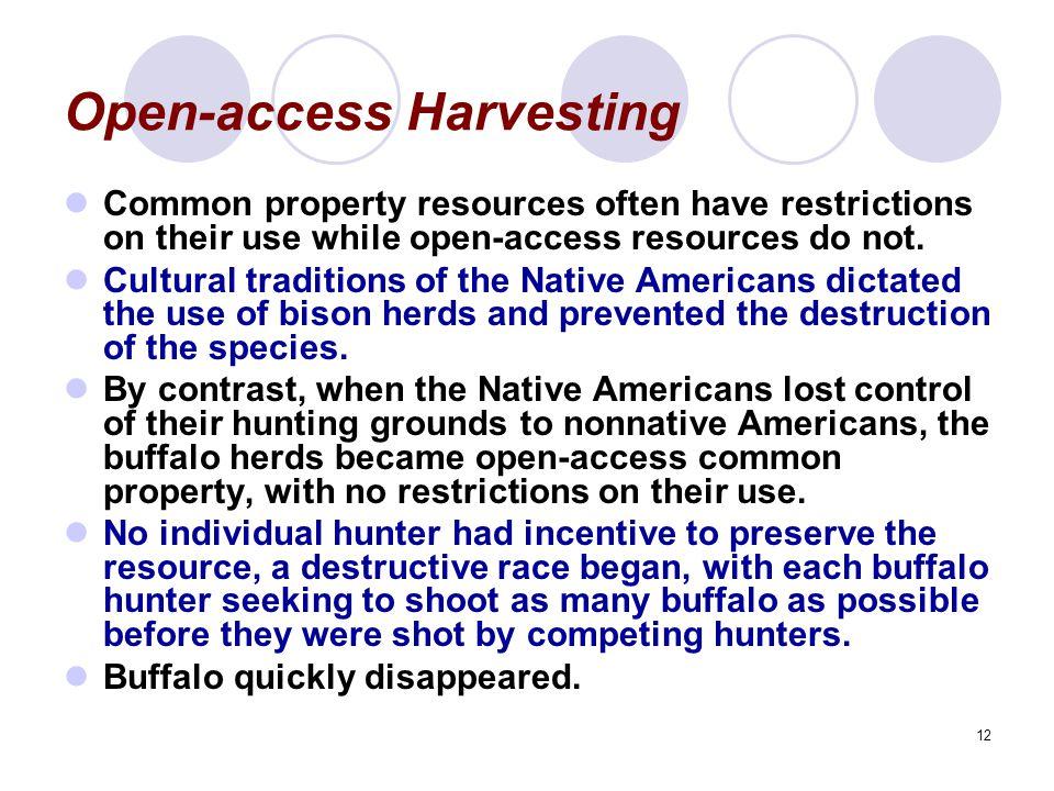 Open-access Harvesting