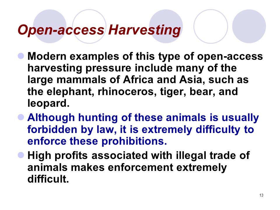 Open-access Harvesting