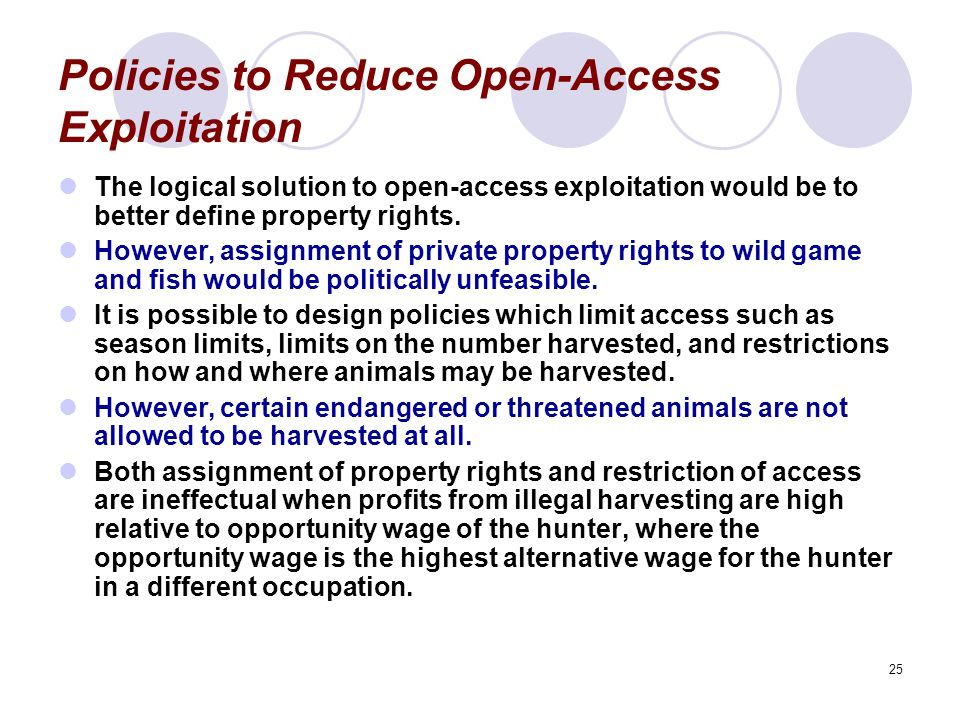 Policies to Reduce Open-Access Exploitation