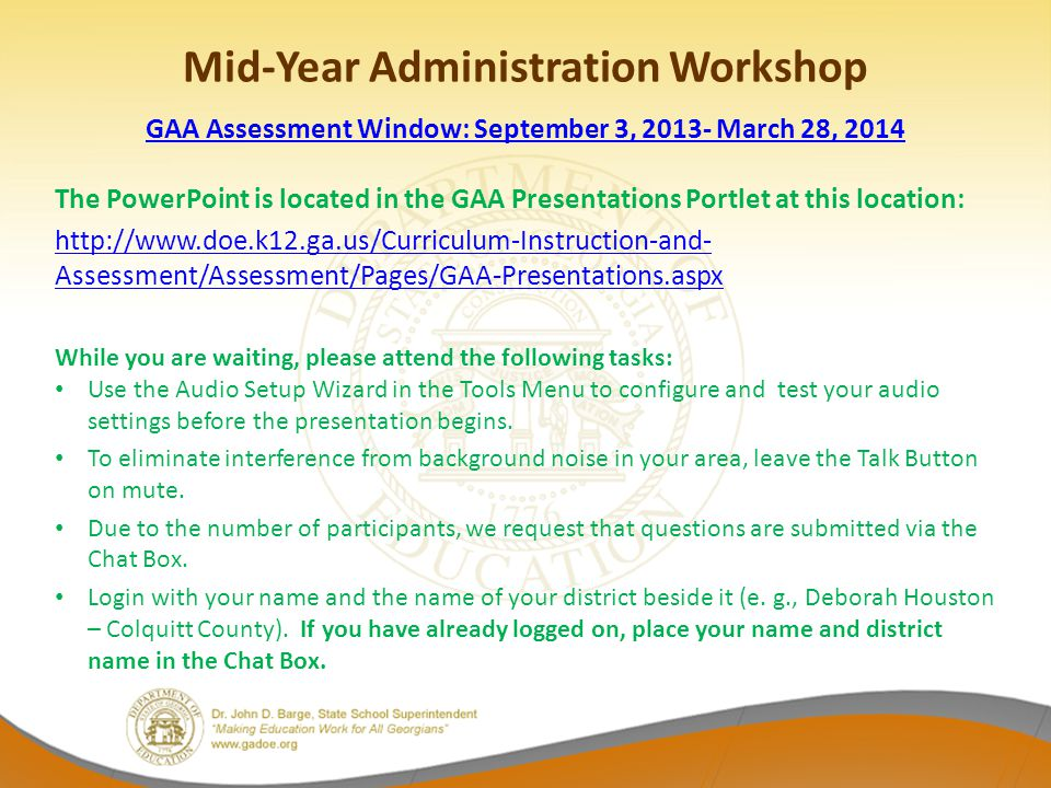 Mid-Year Administration Workshop