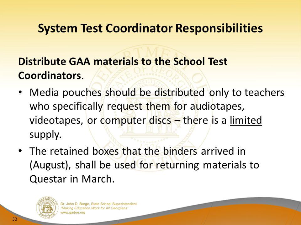 System Test Coordinator Responsibilities