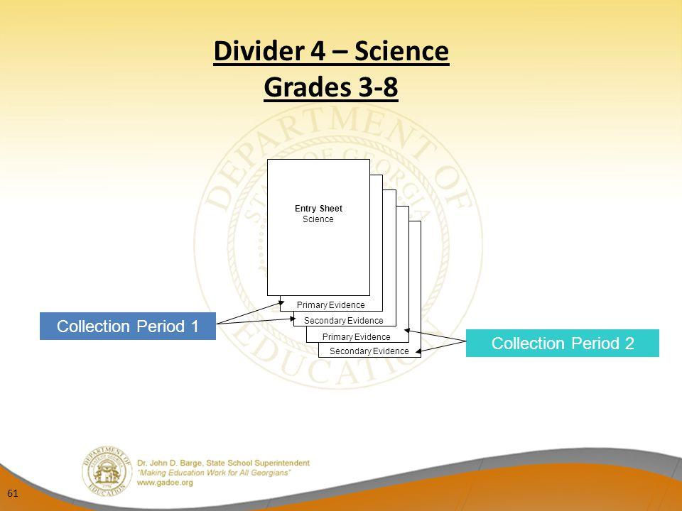 Divider 4 – Science Grades 3-8