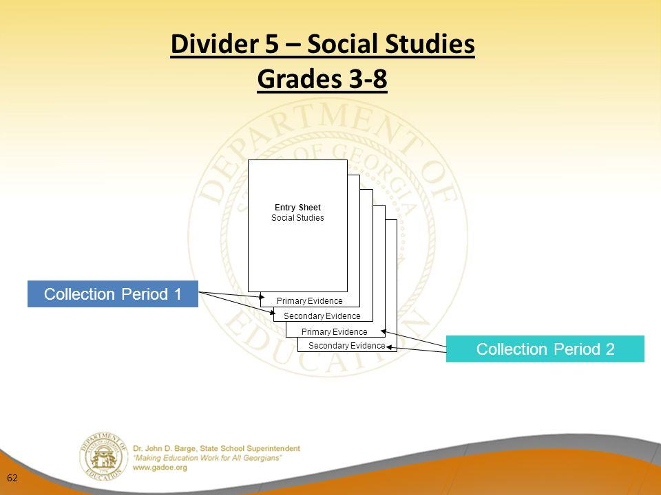 Divider 5 – Social Studies Grades 3-8