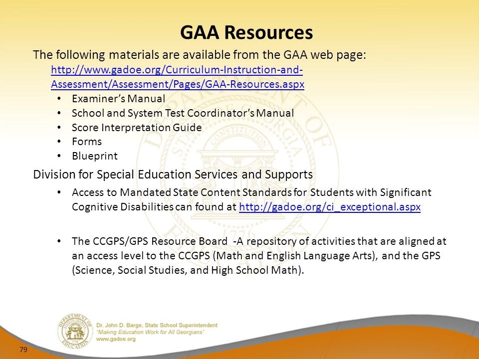 GAA Resources