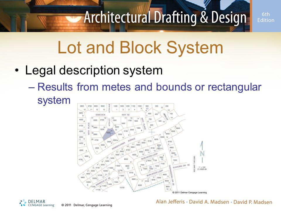 Lot and Block System Legal description system