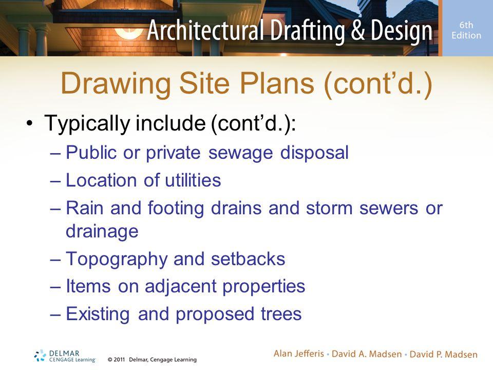 Drawing Site Plans (cont'd.)