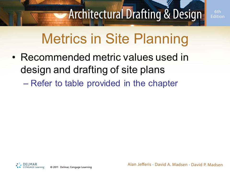Metrics in Site Planning