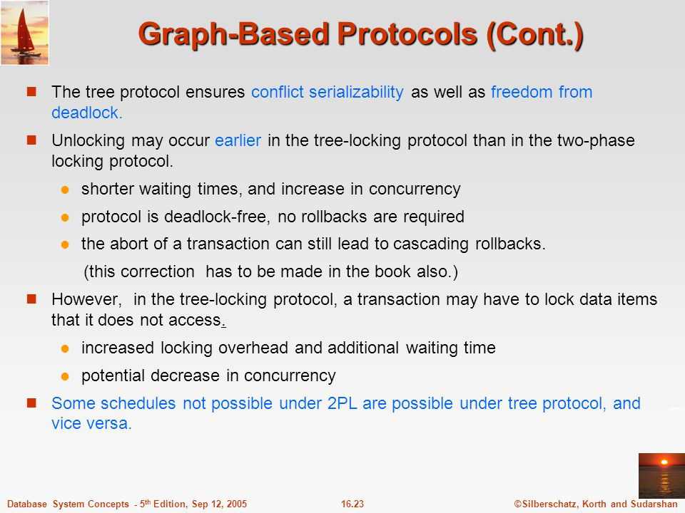 Graph-Based Protocols (Cont.)