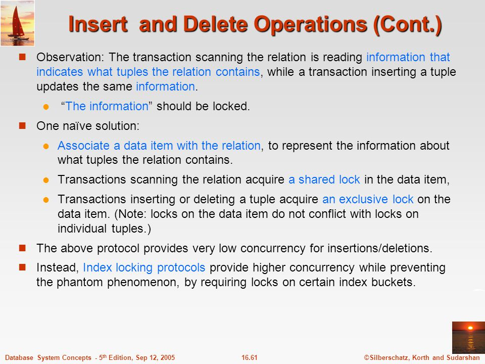 Insert and Delete Operations (Cont.)