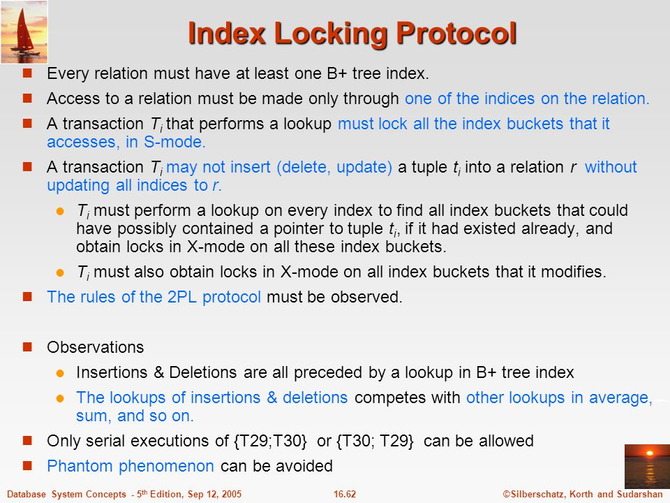 Index Locking Protocol