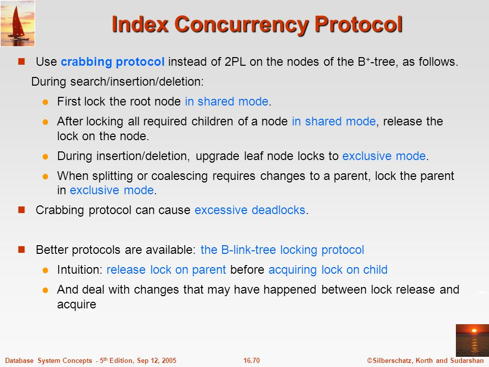 Index Concurrency Protocol