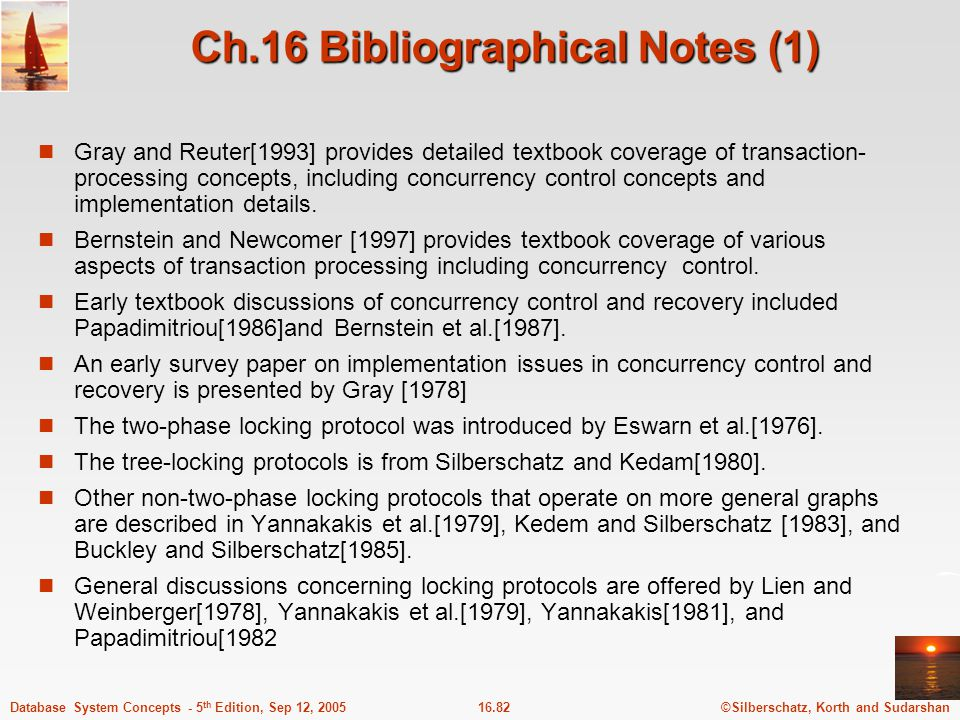 Ch.16 Bibliographical Notes (1)