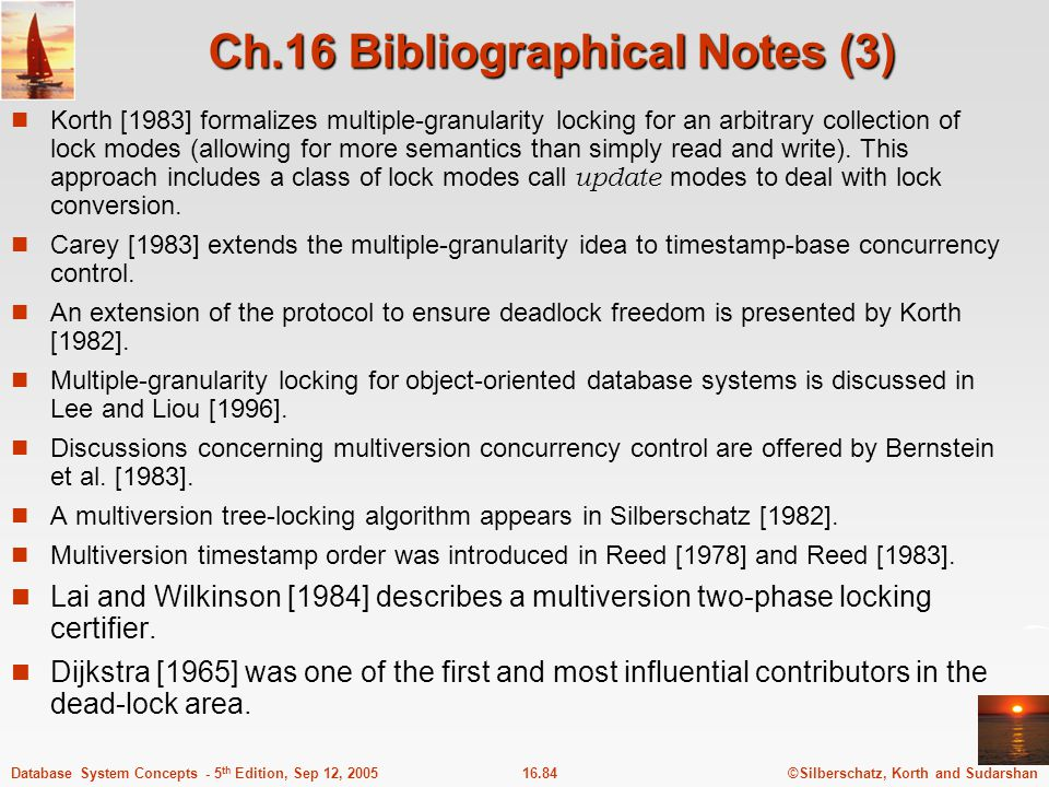 Ch.16 Bibliographical Notes (3)