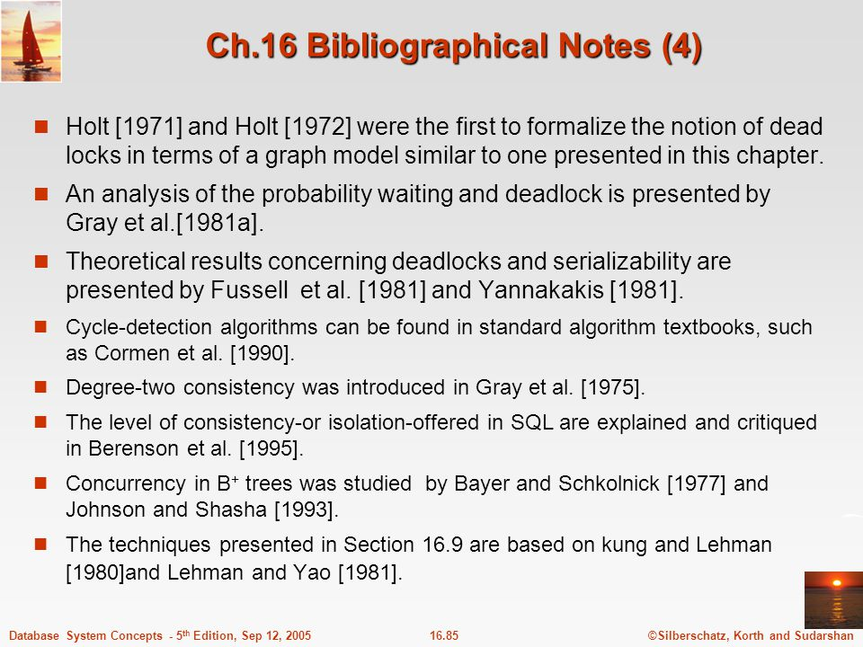 Ch.16 Bibliographical Notes (4)