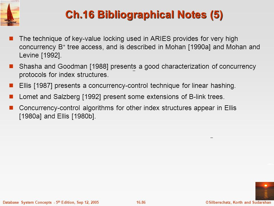 Ch.16 Bibliographical Notes (5)