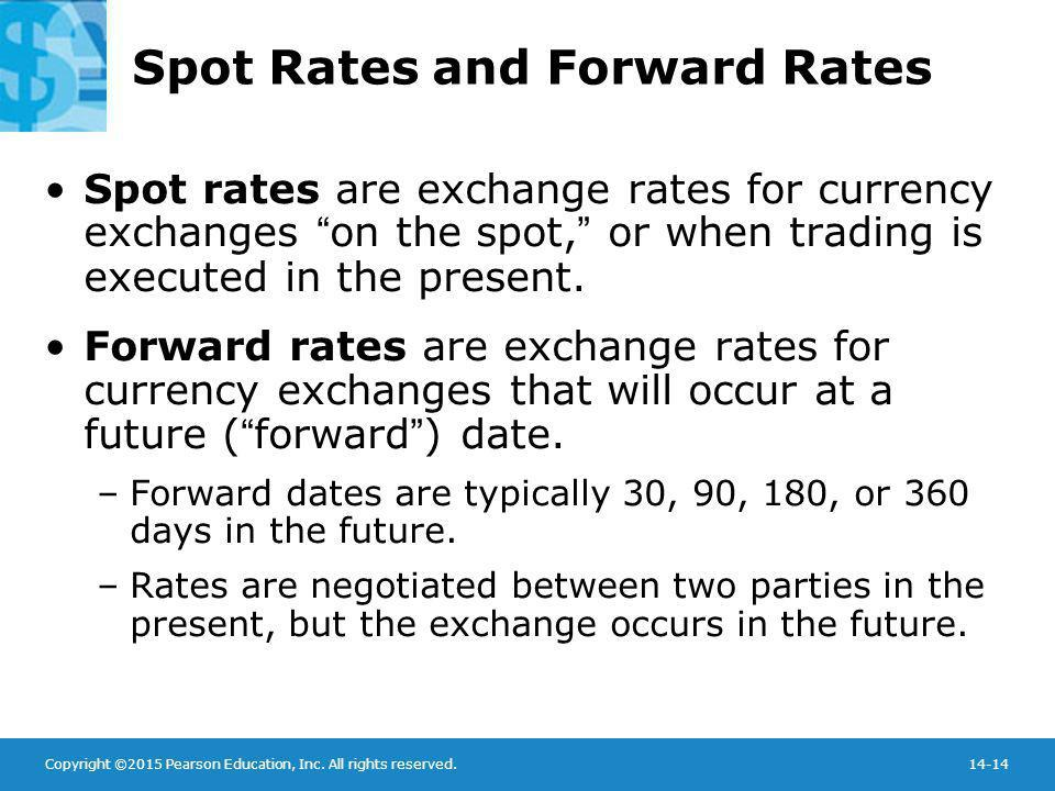 Spot Rates and Forward Rates