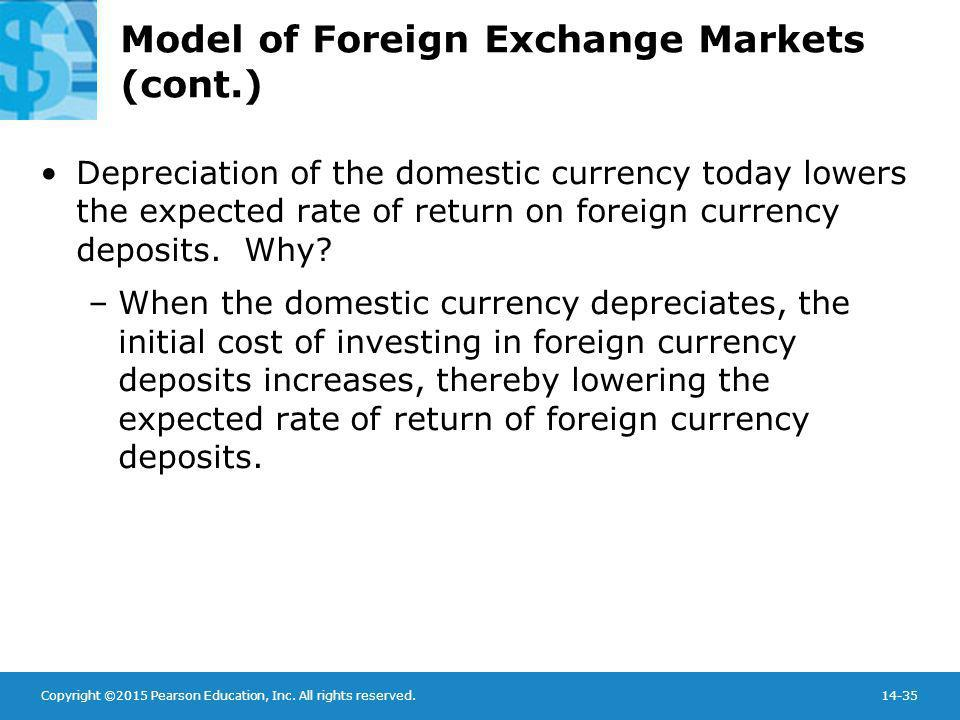 Model of Foreign Exchange Markets (cont.)