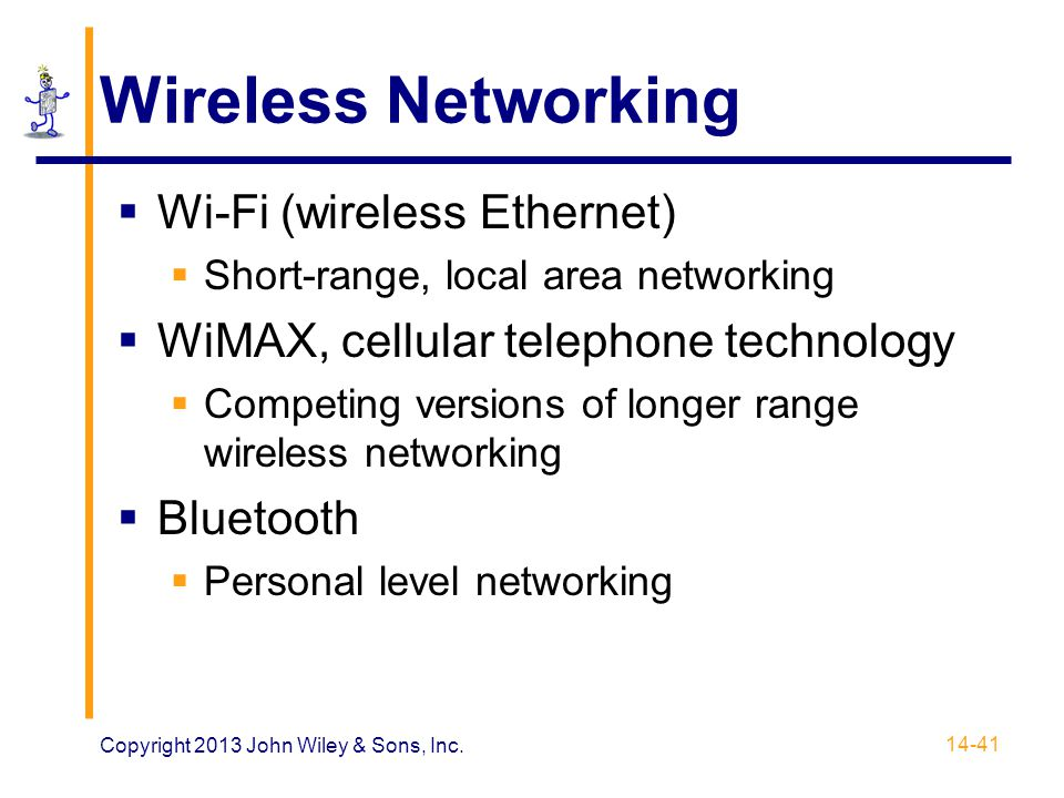 Wireless Networking Wi-Fi (wireless Ethernet)