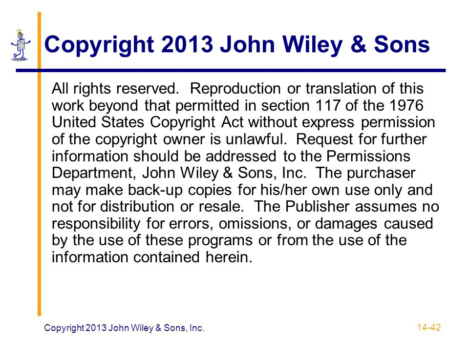 Copyright 2013 John Wiley & Sons