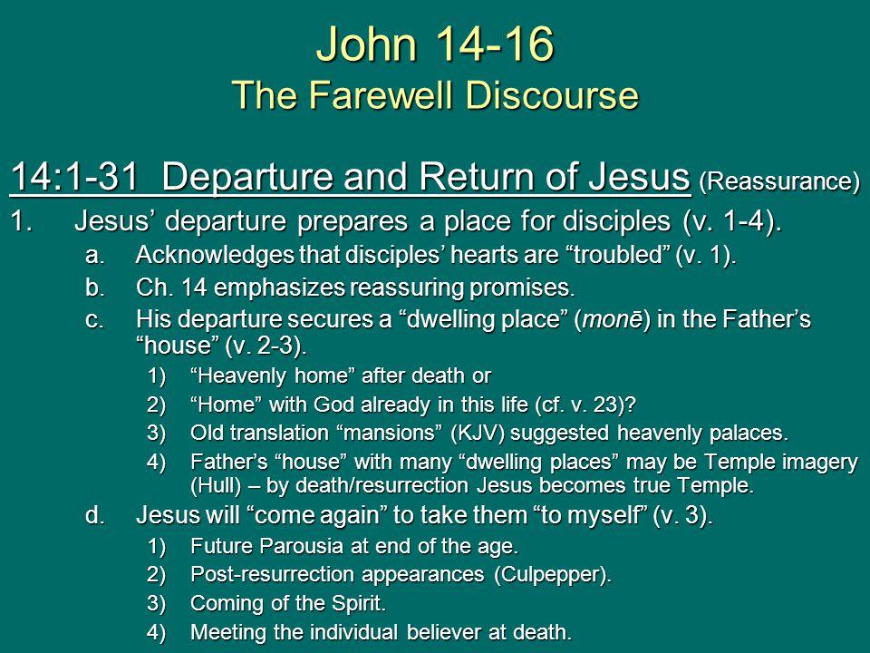 John 14-16 The Farewell Discourse