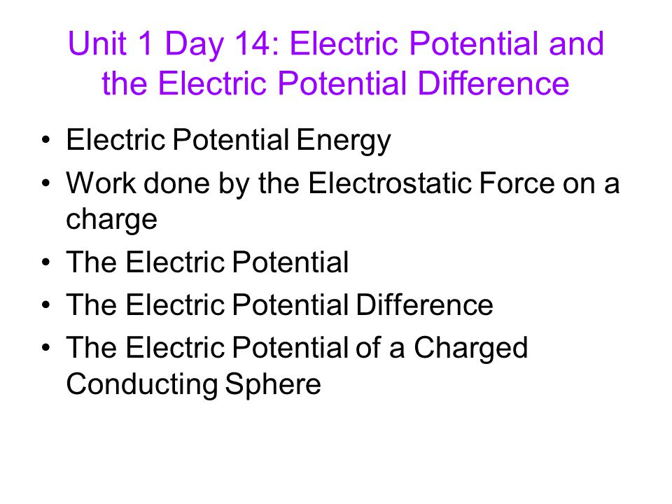 electric potential energy and potential difference pdf