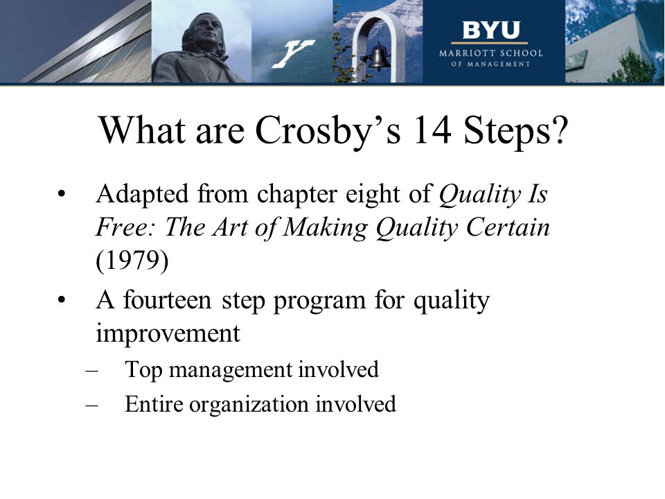 What are Crosby's 14 Steps