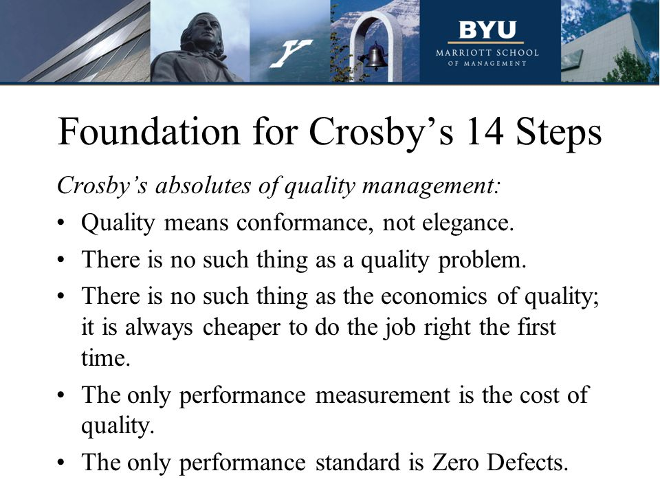Foundation for Crosby's 14 Steps