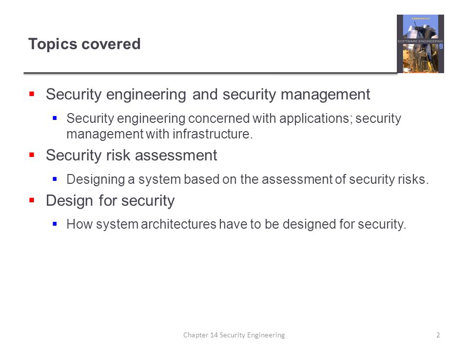 Chapter 14 Security Engineering