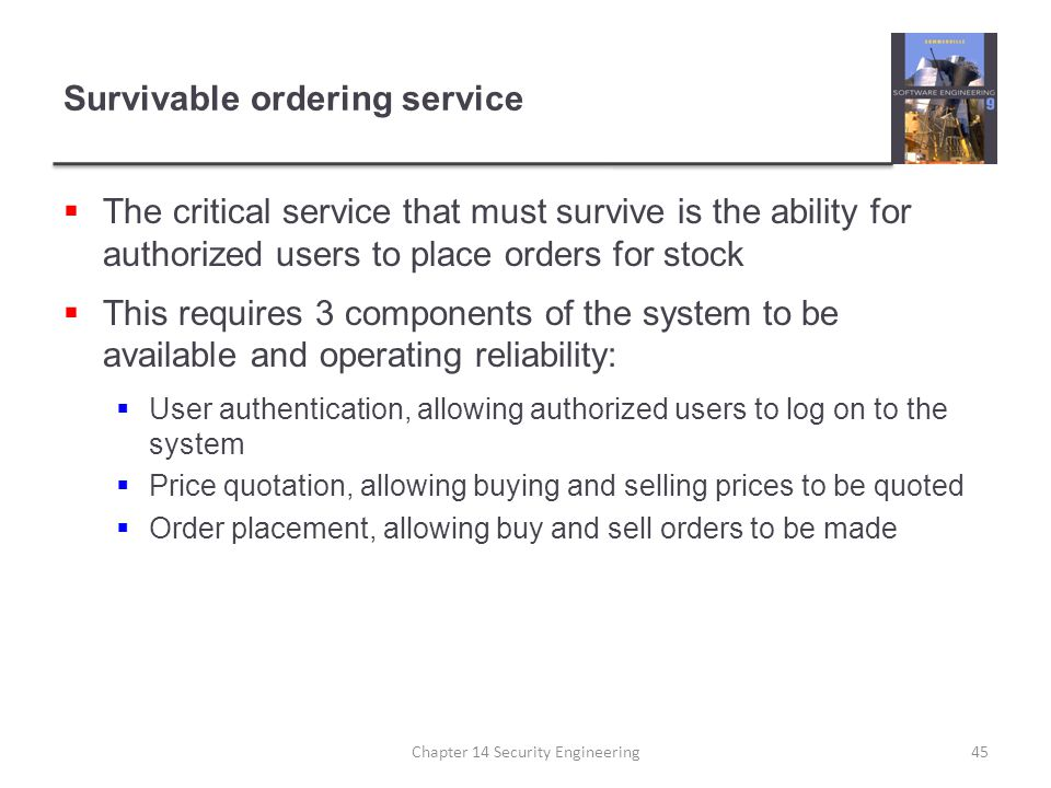 Survivable ordering service