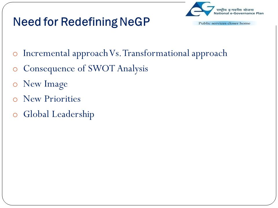 Need for Redefining NeGP