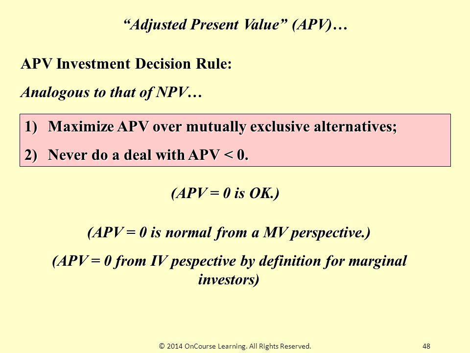 Adjusted Present Value (APV)…