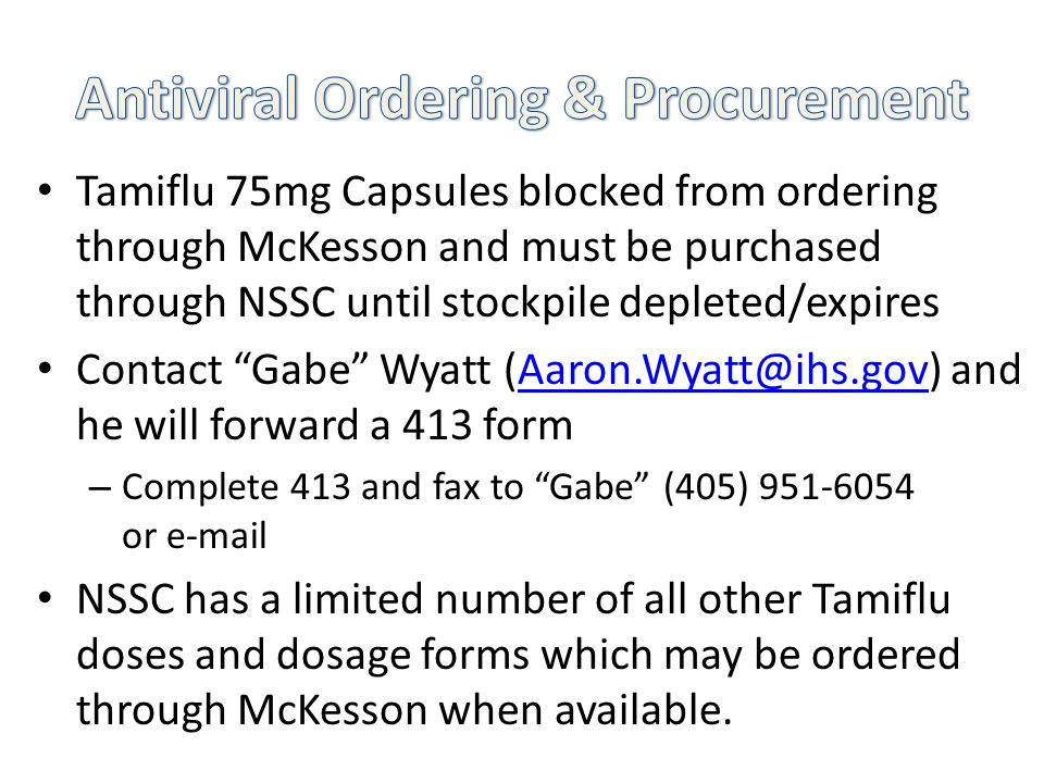 Antiviral Ordering & Procurement