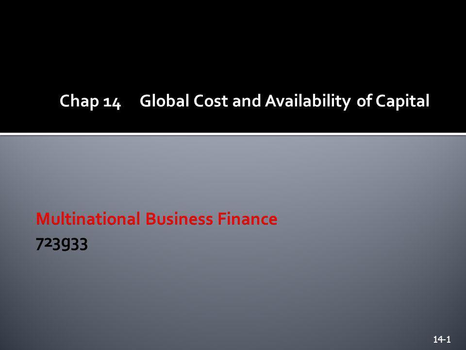 Multinational Business Finance 723g33