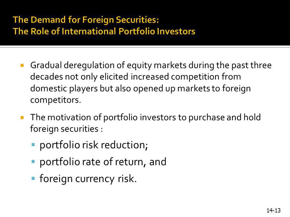 portfolio risk reduction; portfolio rate of return, and