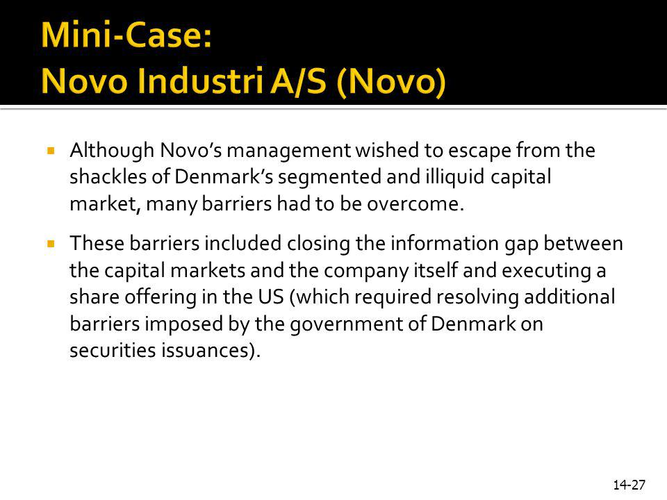 Mini-Case: Novo Industri A/S (Novo)