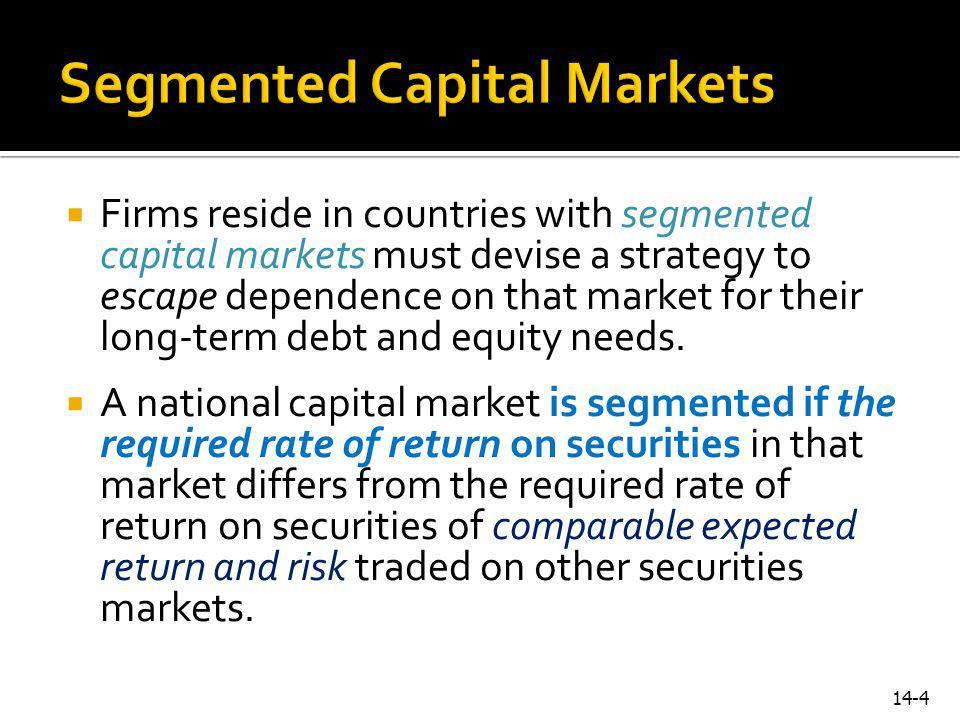 Segmented Capital Markets